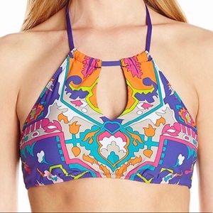 Trina Turk Tapestry Halter Bikini Top NWT Size 4